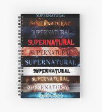 Supernatural intro seasons 1-10 Spiral Notebook