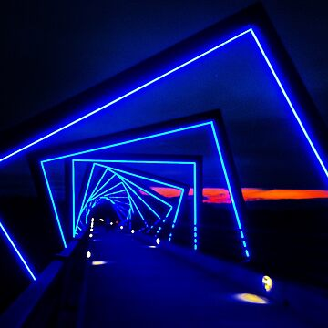 LED Lights Over Bridge by nativeminnow