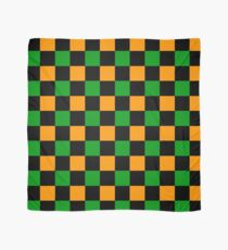 Checkered Orange, Green, Black Scarf