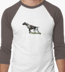 Hunting Without My Dog? Pointless (GSP, White Lettering) Men's Baseball ¾ T-Shirt