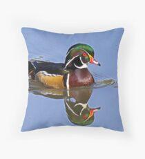 Wood Duck - Aix sponsa Throw Pillow