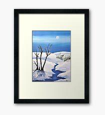 Snowy  Scene Framed Print
