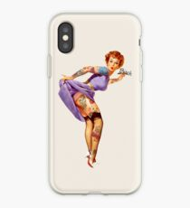 Redhead Pin-up iPhone Case