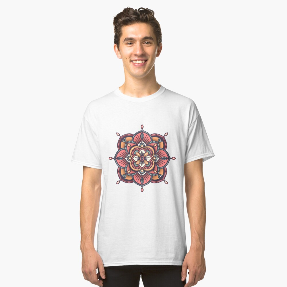 Red Mandala  Classic T-Shirt