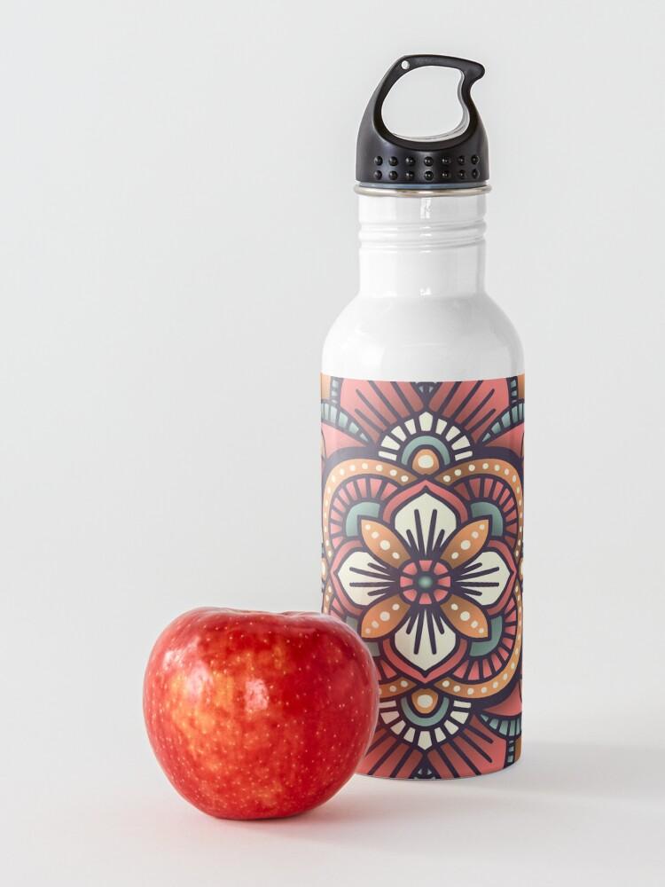 Alternate view of Red Mandala  Water Bottle
