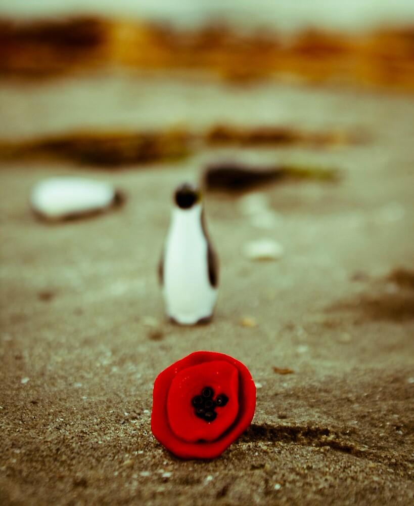 Penguin loves poppy by iulix