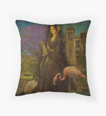 Garden, Gardener and... her Guardians. Throw Pillow
