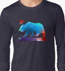 California State Flag Bear (Fraktale Winkel) Langarmshirt