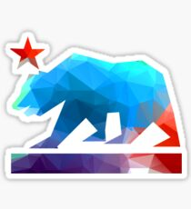California State Flag Bear (fractal angles) Sticker