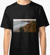 Sunset along Porth Towan Cliff Path Classic T-Shirt