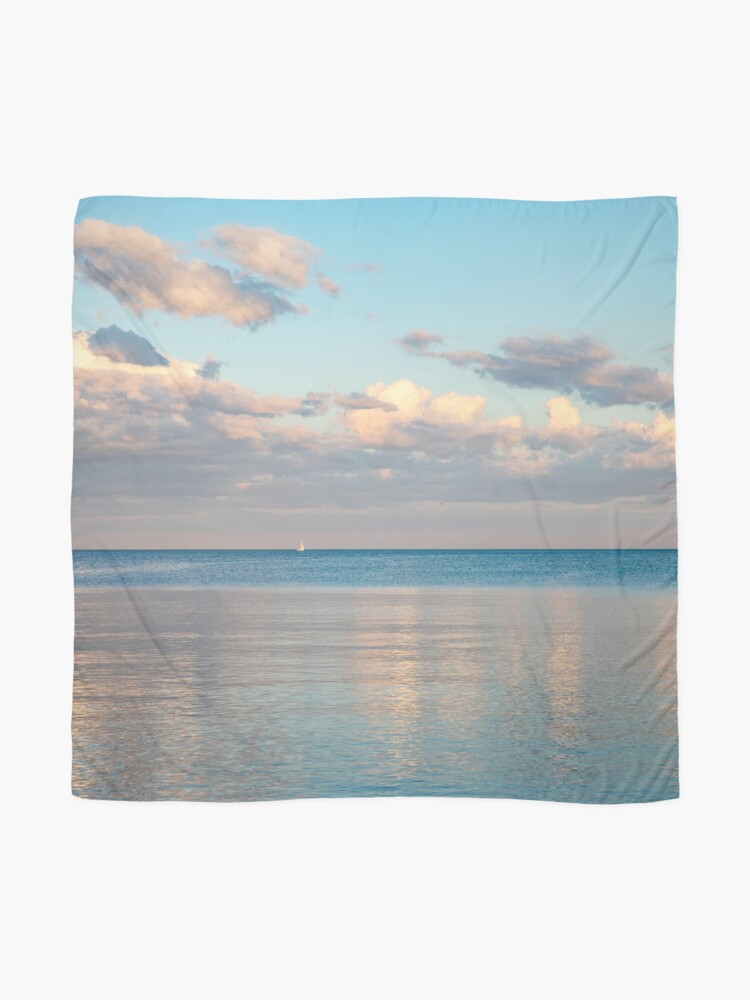 Alternate view of Glossy Rose Gold and Sapphire Blue - Waterside Relaxation Zone Scarf