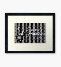 Season's Greetings - Silver/Black Framed Print