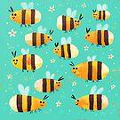 Summer Bees by Gareth Lucas