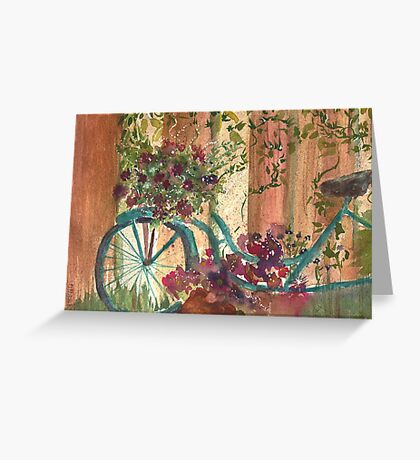 Bike and Ivy Greeting Card