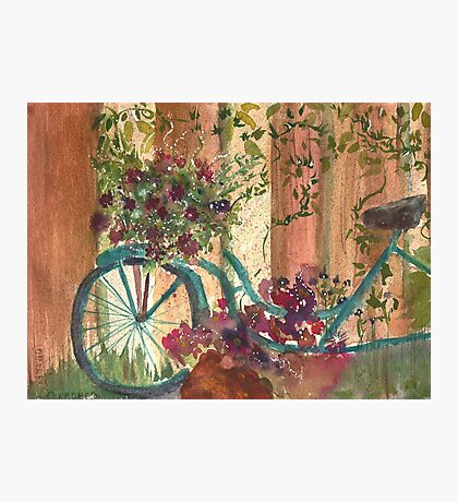 Bike and Ivy Photographic Print