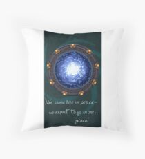 Stargate quote Throw Pillow