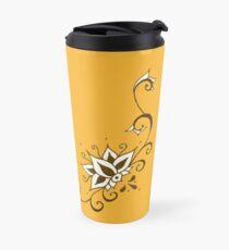 Climbing Lotus on Saffron Travel Mug