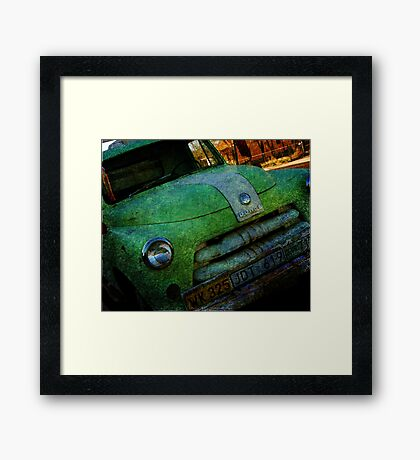 Route 66 Old Dodge Framed Print