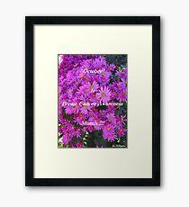 Flowers For Breast Cancer Awareness ! Framed Print