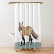 Fox on Sage Shower Curtain