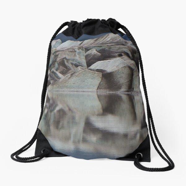Glacier Face Drawstring Bag