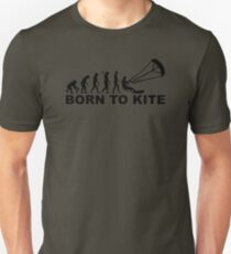 Evolution born to kite Unisex T-Shirt