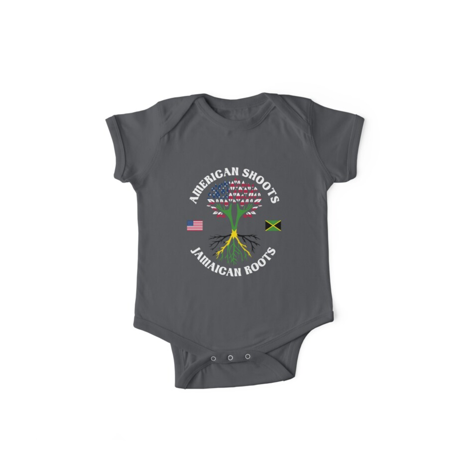 American Grown Jamaican Roots Shoulder Bodysuits as picture18 Months