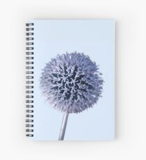 Monochrome - Starry night on the thistle globe Spiral Notebook