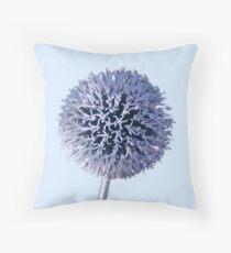 Monochrome - Starry night on the thistle globe Throw Pillow