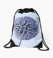 Monochrome - Starry night on the thistle globe Drawstring Bag