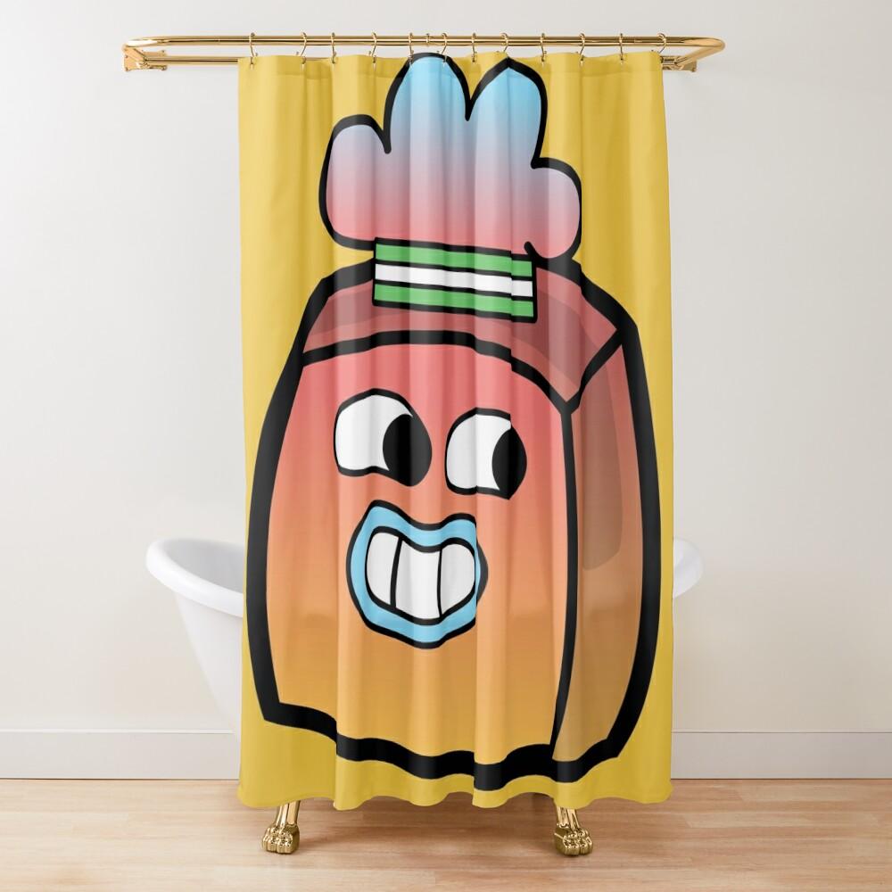 Tobias Gumball - The Amazing World of Gumball Boxheadz Shower Curtain