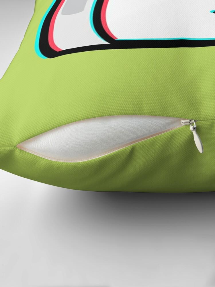 Alternate view of Carrie Krueger - The Amazing World of Gumball Boxheadz Throw Pillow