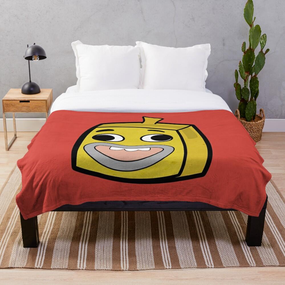 Banana Joe - The Amazing World of Gumball Boxheadz Throw Blanket