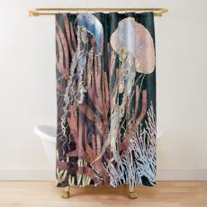 Metallic Coral Shower Curtain