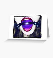 Purple Ball Gag Greeting Card
