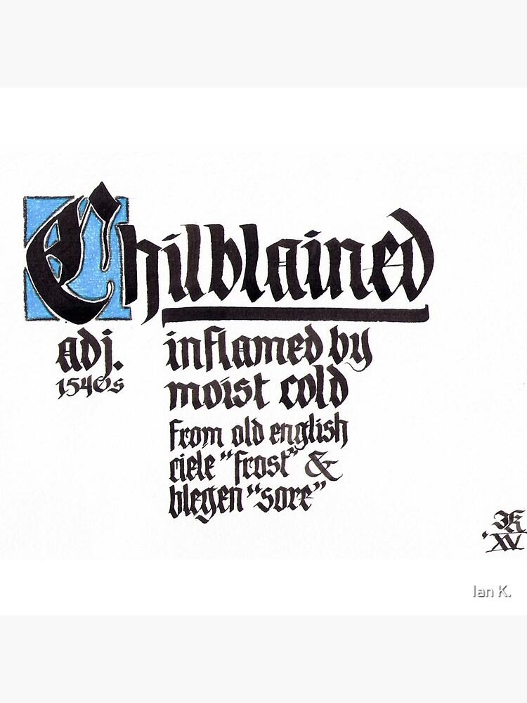 Frostbeule Blackletter Kalligraphie von Summer1980