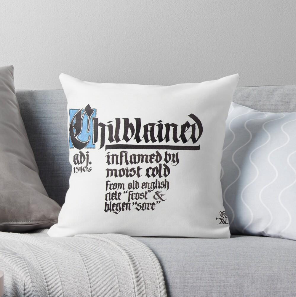 Frostbeule Blackletter Kalligraphie Dekokissen