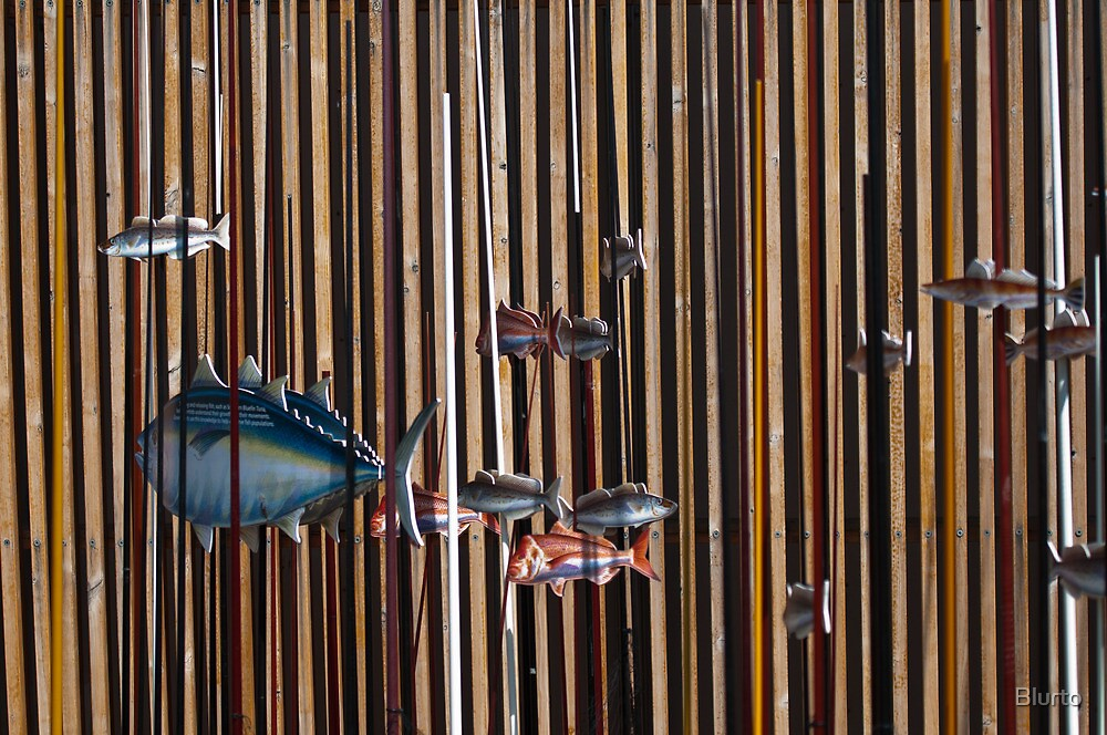 Fish and Rods by Blurto