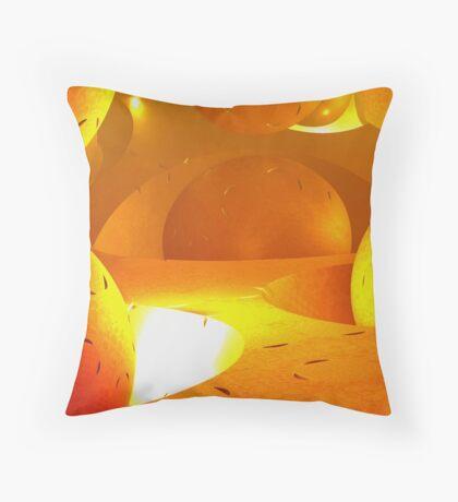 molecules of the sun Throw Pillow