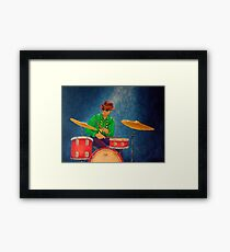 Jazz Drummer Framed Print