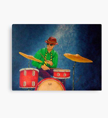 Jazz Drummer Canvas Print