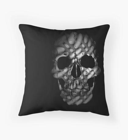 chiseled skull  Throw Pillow