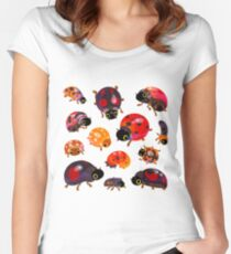 Lady beetles Fitted Scoop T-Shirt