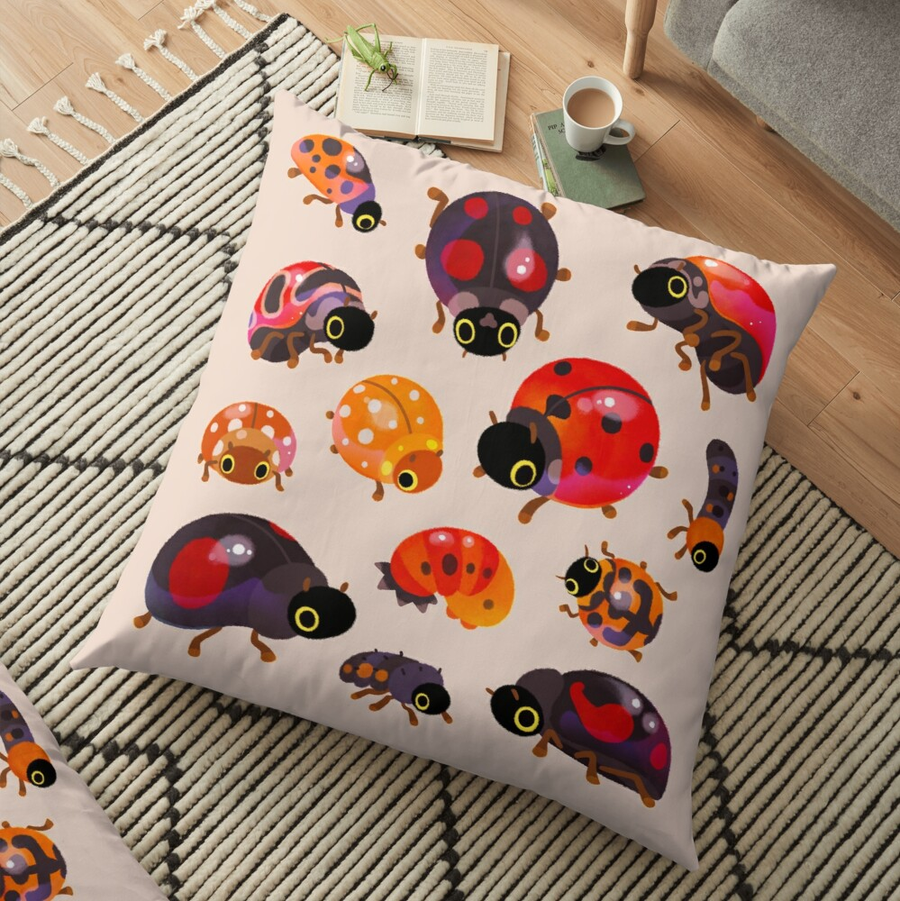 Lady beetles Floor Pillow