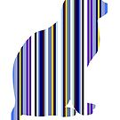 Blue, grey and purple multicolored stripe by rlnielsen4