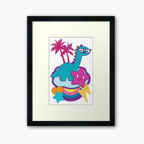 Rainbowsaurus  Framed Art Print
