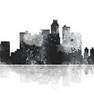 Los Angeles, Kalifornien Skyline - Schwarz und Weiß von Marlene Watson