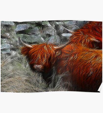 Fractalius Bulls #2 Poster