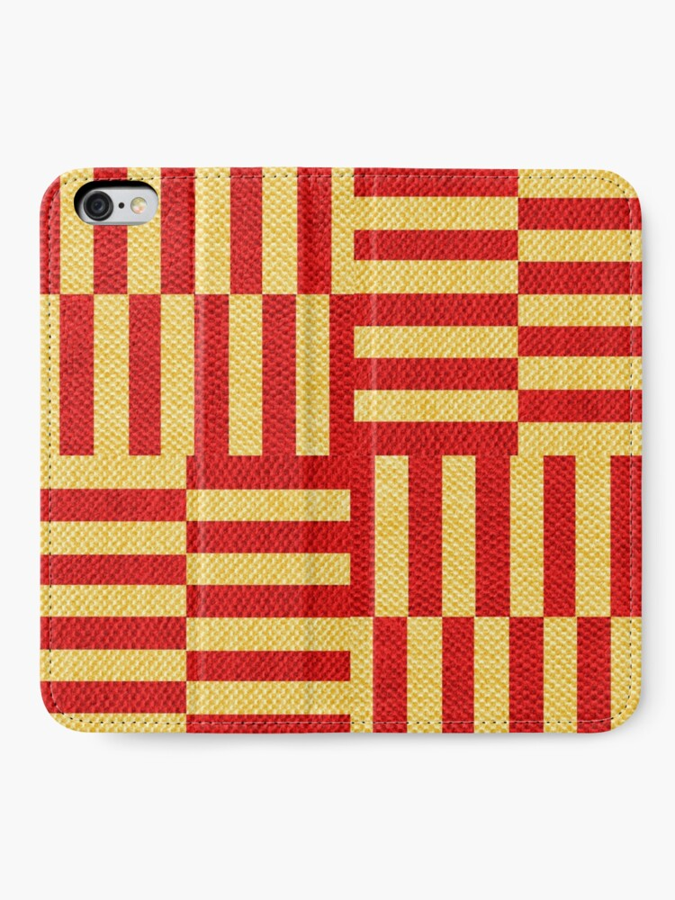 Alternate view of stripes pattern iPhone Wallet
