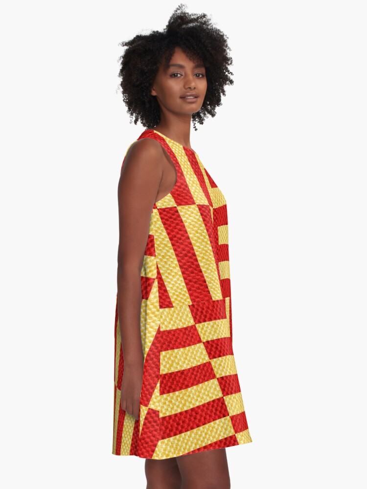 Alternate view of stripes pattern A-Line Dress